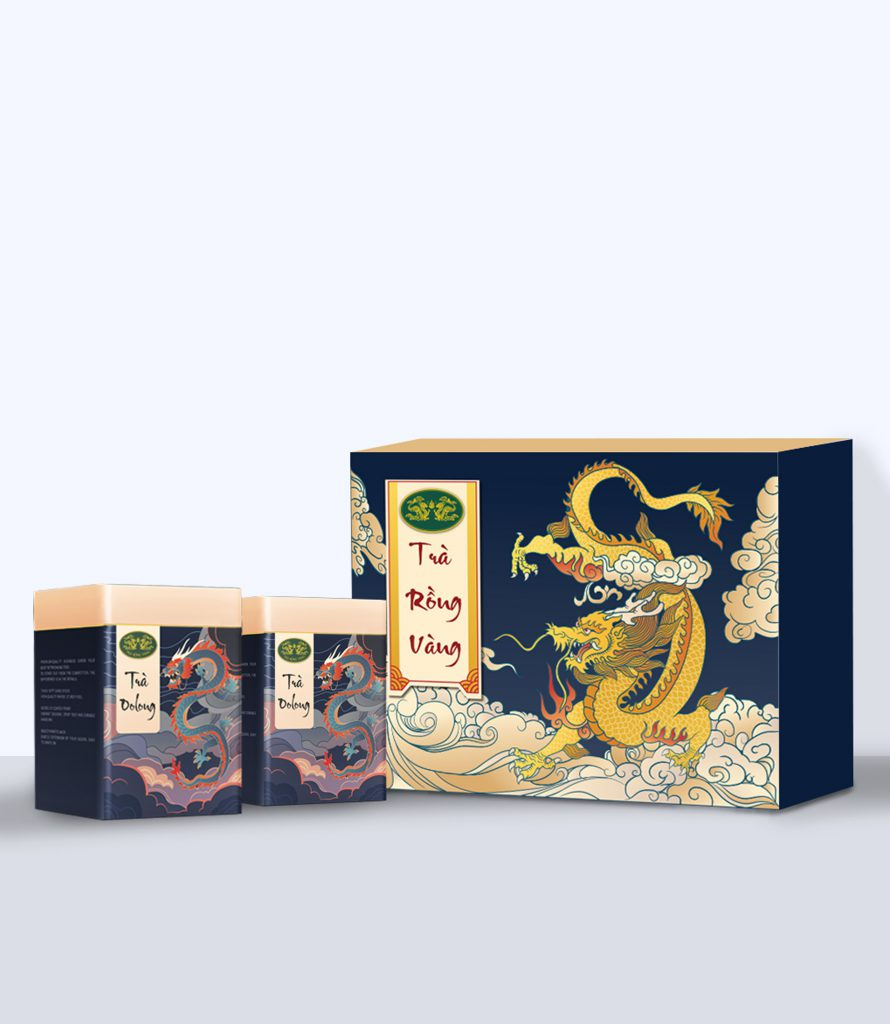 Set trà oolong Rồng Vàng